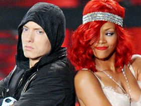 Eminem and Rihanna perform at the 2010 VMAs on Sunday