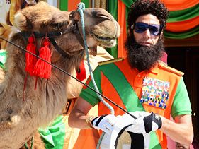 Sacha Baron Cohen as the Dictator at 2012 Cannes Film Festival