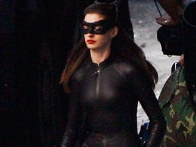 Anne Hathaway on the set of &quot;Dark Knight Rises&quot;