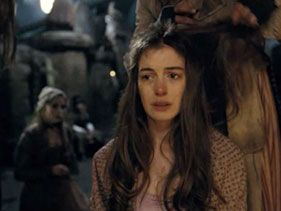 "Anne Hathaway as Fantine in ""Les Miserables"""
