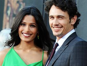 "Freida Pinto and James Franco at the ""Rise of the Planet of the Apes"" premiere"