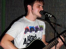 "Kris Allen performs in Conway, Arkansas, before auditioning for ""American Idol"""