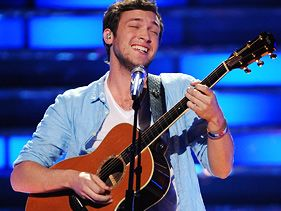 "Phillip Phillips performs on the ""American Idol"" finale on Tuesday"