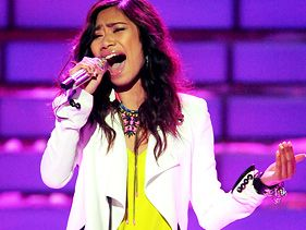 "Jessica Sanchez performs on the ""American Idol"" finale on May 22"