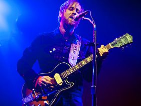 The Black Keys' Dan Auerbach performs in Berlin on Saturday