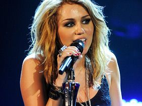 Miley Cyrus performs at the House of Blues in Los Angeles on Monday