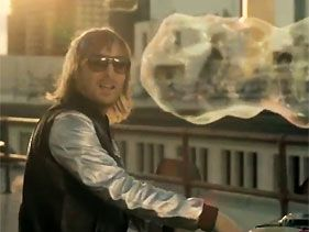 "David Guetta in his music video for ""Where Dem Girls At"""