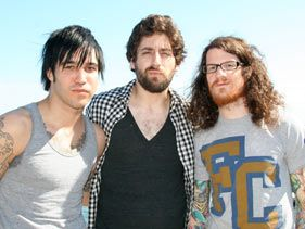 Fall Out Boy's Pete Wentz, Joe Trohman and Andy Hurley