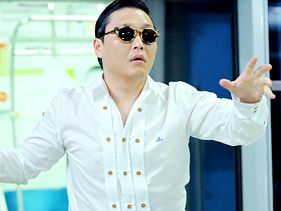 "Psy in his video for ""Gangnam Style"""