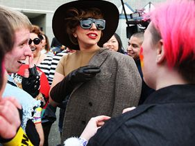 Lady Gaga unveils her Born Brave bus in Tacoma, Washington