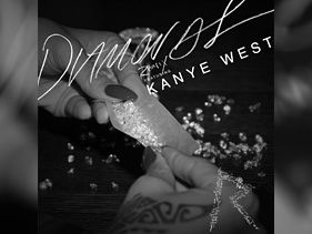 "Rihanna's ""Diamonds"" remix featuring Kanye West artwork"