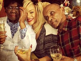 Rihanna and her grandparents