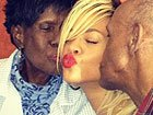 Rihanna Parties With Her Grandparents