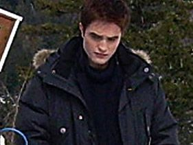 "Robert Pattinson on the Vancouver set of ""The Twilight Saga: Breaking Dawn"""