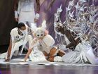 Lady Gaga performs on stage at Radio City Music Hall during the 2009 MTV Video Music Awards.