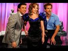 "Scarlett Johansson and Ryan Reynolds with Fred Armisen on ""Saturday Night Live"" in October 2009"
