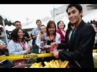 "Booboo Stewart distributes breakfast for fans at ""The Twilight Saga: Breaking Dawn Part 1"" Fan Wake-Up Call during the 2011 San Diego Comic-Con"