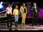 "Fantasia with La Toya London, Jennifer Hudson and Ryan Seacrest on ""American Idol"" on April 21, 2004"