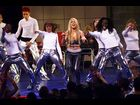 Britney Spears performs with 'NSYNC at the VMAs in 1999