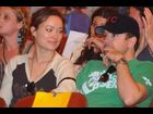 Olivia Wilde and Jason Sudeikis at the Big Easy Express performance on March 17